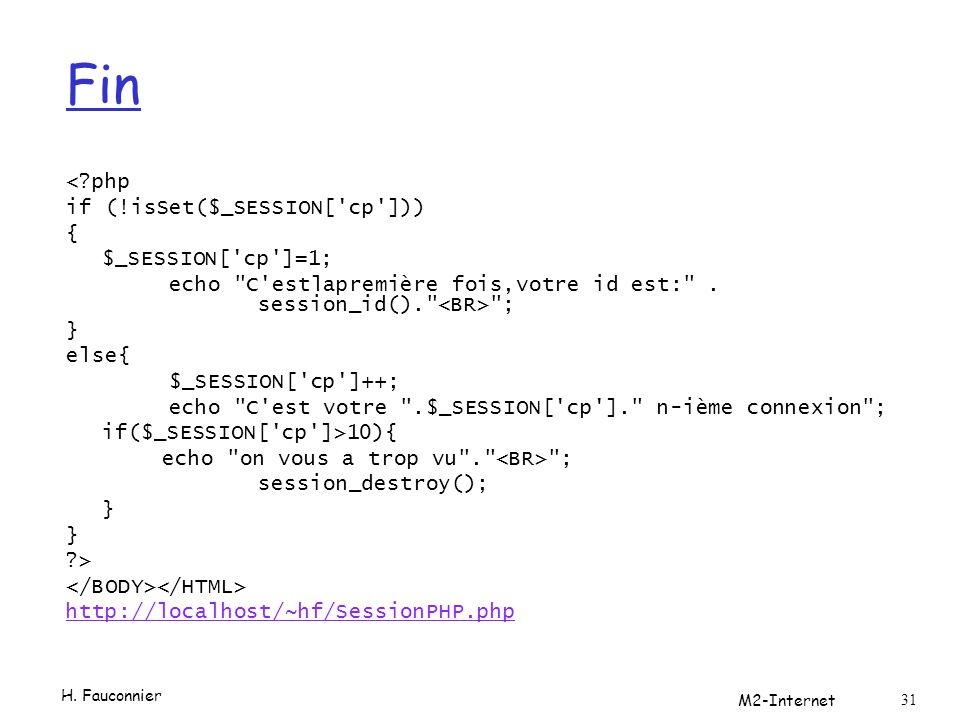 Fin < php if (!isSet($_SESSION[ cp ])) { $_SESSION[ cp ]=1;